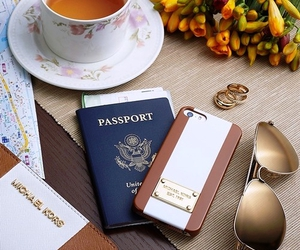 Michael Kors, passport, and travel image