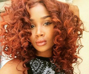 beauty, curl, and hair image