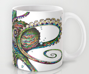 cup, colorful, and octopus image