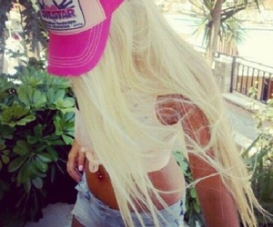 blonde, pink, and girl image