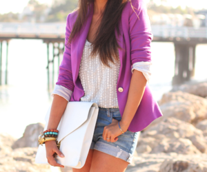 fashion, purple, and shorts image