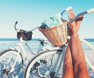 beach, bicycle, and bohemian image