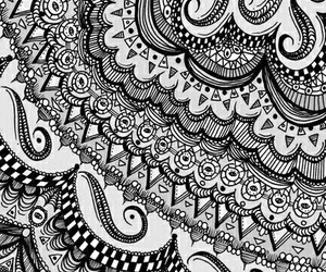 art, black and white, and pattern image
