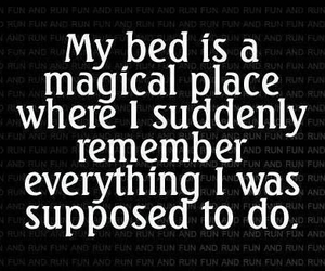 bed, quotes, and remember image