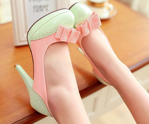 chic, pastel, and heels image
