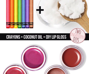 diy, lips, and crayon image