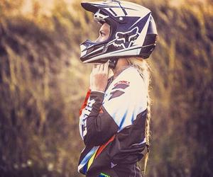 dirtbike, motocross, and rider image