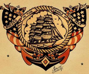 navy, sailor jerry, and ship image