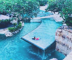 water, blue, and pool image