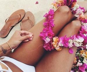 flowers, girl, and good life image