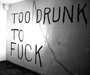 drunk, fuck, and quote image