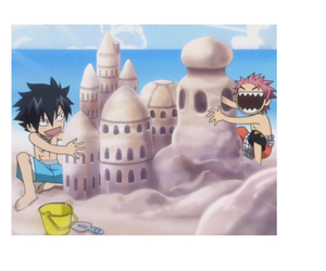 beach, fairy tail, and gray fullbuster image