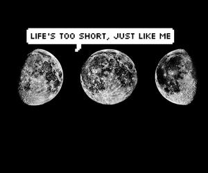 black, life, and moon image