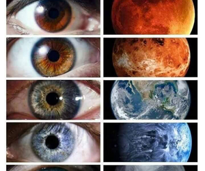 colors, planets, and eyes image