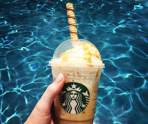 starbucks, water, and coffee image