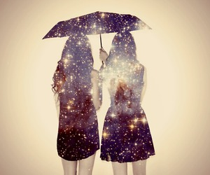 friends, galaxy, and umbrella image