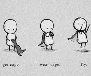 get cape, fly, and wear cape image