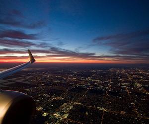 night, city, and sky image