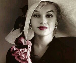 Marilyn Monroe, vintage, and hat image