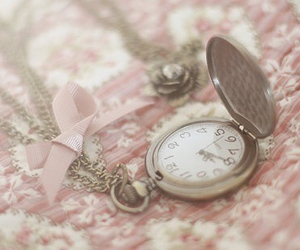 clock, pink, and vintage image