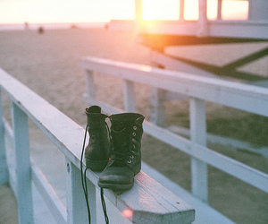 beach, boots, and shoes image