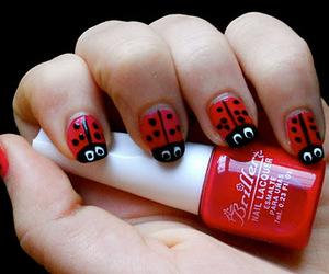 ladybird, nail polish, and nails image