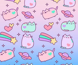 kawaii, cat, and colorful image