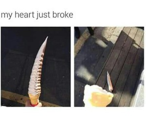 funny, ice cream, and heart image