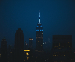 blue, city, and empire state building image