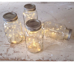 light and fireflies image