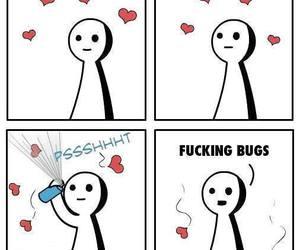 love, funny, and bug image