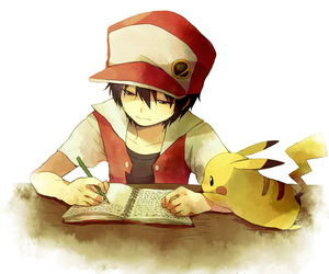pokemon, pikachu, and red image
