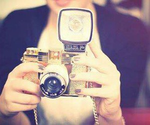 camera, photography, and gold image