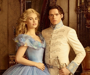 cinderella, lily james, and lilchard image