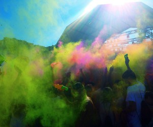 beach, colours, and party image