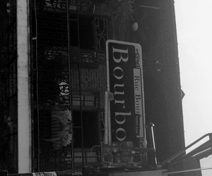 blackandwhite, bourbon street, and new orleans image