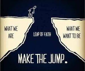 jump, faith, and life image