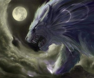 big, wolf, and monster image