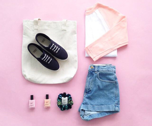 outfit, pink, and fashion image