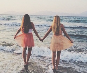 summer, best friends, and dresses image