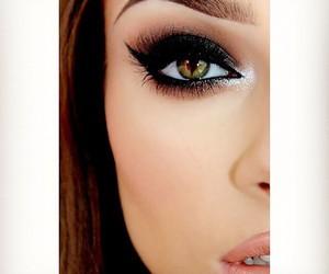 beauty, lipstick, and smokey eye image