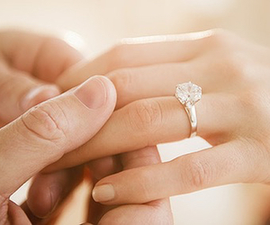 bride, diamond ring, and silver image
