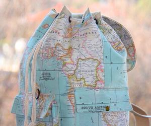 world, map, and bag image