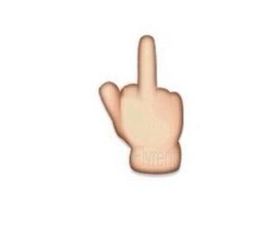 middle finger, overlay, and emoji image