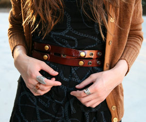 accessories, wide belt, and fashion image