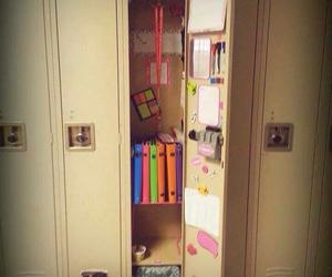 decoration, locker, and pink image