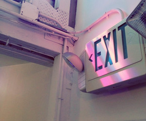 exit, grunge, and pink image