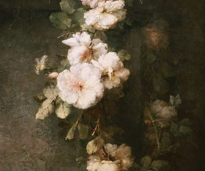 art, beauty, and flowers image