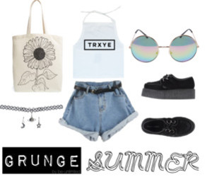 choker, grunge, and summer image