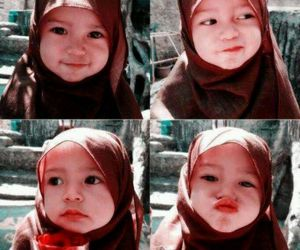 sweet and litttle muslim girl image